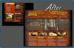 Before and after website design